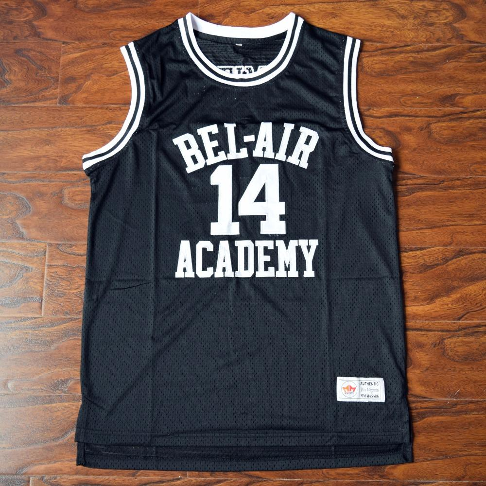 Will Smith 14 Bel-Air Academy Basketball Jersey Black 07cffe504