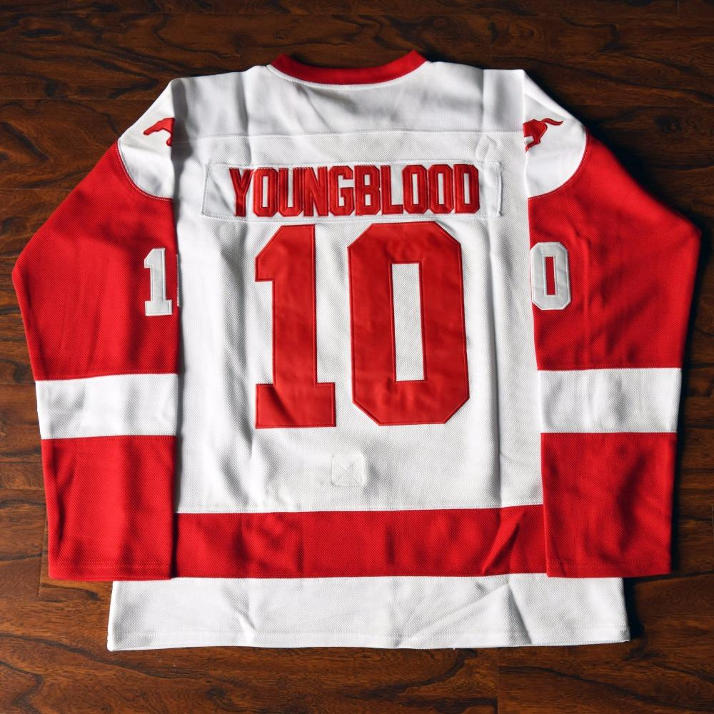 f6e20ccaeaf Youngblood 10 Mustangs Rob Lowe Ice Hockey Jersey Stitched White - Jimmys  Jerseys