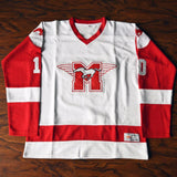 Youngblood 10 Mustangs Rob Lowe Ice Hockey Jersey Stitched White