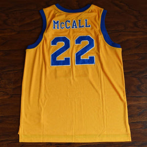 Quincy McCall 22 Crenshaw High School Basketball Jersey Stitched Yellow - Jimmys Jerseys