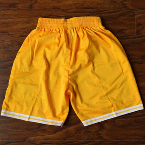 Bel-Air Academy Basketball Shorts Stitched Yellow - Jimmys Jerseys