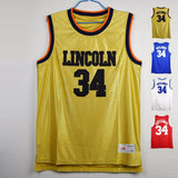 Jesus Shuttlesworth #34 Lincoln Big State Basketball Jerseys Ray Allen Jersey Movie He Got Game