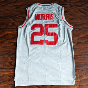 Zack Morris 25 Bayside Basketball Jersey Stitched Grey - Jimmys Jerseys