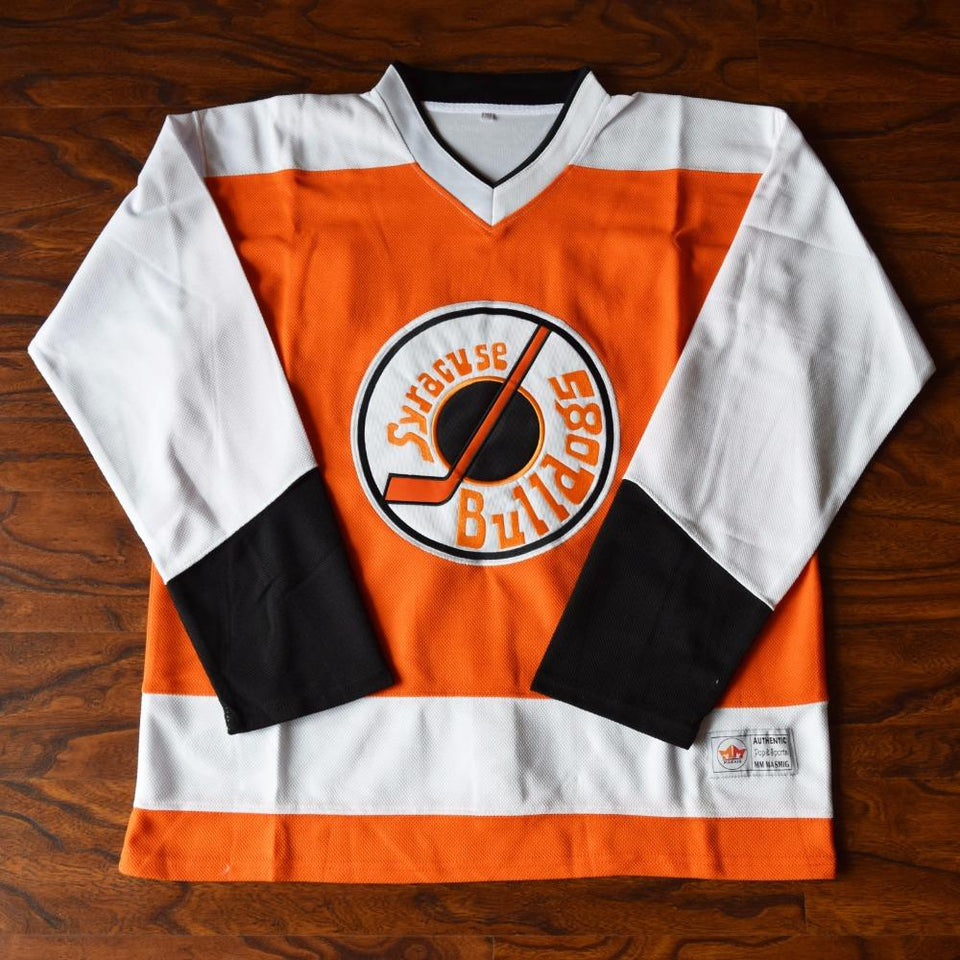 Ogie Ogilthorpe 2 Slap Shot Syracuse Bulldogs Hockey Jersey Orange - Jimmys Jerseys