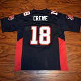 Paul Crewe 18 Mean Machine Football Jersey Stitched Black - Jimmys Jerseys