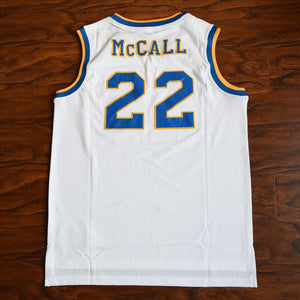 Quincy McCall 22 Crenshaw High School Basketball Jersey Stitched White Love and Basketball - Jimmys Jerseys