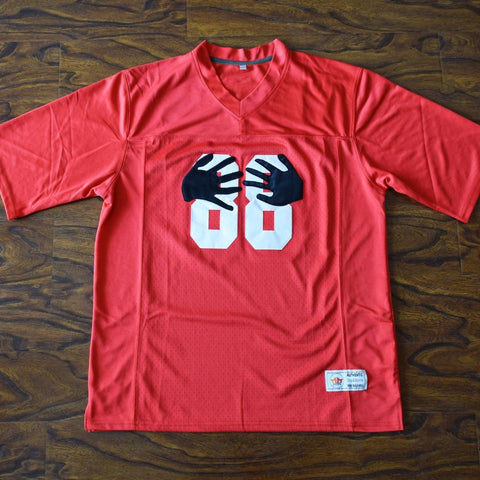 Hot Hands 88 Football Jersey Stitched Red - Little Giants