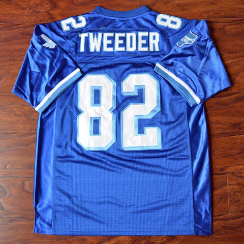 Charlie Tweeder #82 Football Jersey Stitched Blue - Varsity Blues