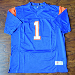 Harmon Tedesco #1 Blue Mountain State Football Jersey Stitched Blue - Jimmys Jerseys