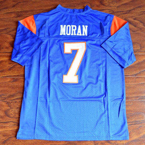 Alex Moran #7 Blue Mountain State Football Jersey Stitched Blue
