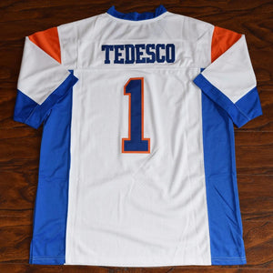 Harmon Tedesco #1 Blue Mountain State Football Jersey Stitched White - Jimmys Jerseys