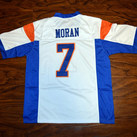 Alex Moran #7 Blue Mountain State Football Jersey Stitched White