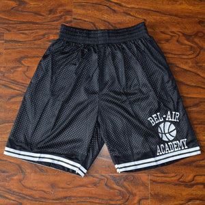 Bel-Air Academy Basketball Shorts Stitched Black - Jimmys Jerseys