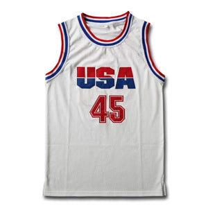 Trump #45 USA White Basketball Jersey - Jimmys Jerseys
