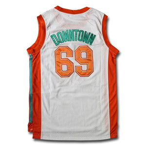 "Downtown ""Funky Stuff"" Malone 69 Flint Tropics Basketball Jersey White - Jimmys Jerseys"