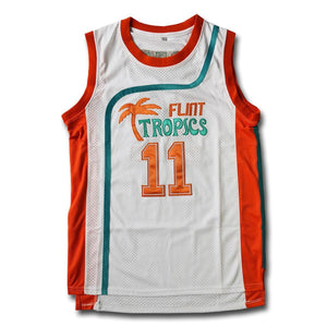 Monix #11 Flint Tropics White Basketball Jersey - Jimmys Jerseys