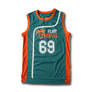 "Downtown ""Funky Stuff"" Malone 69 Flint Tropics Basketball Jersey Stitched Green - Jimmys Jerseys"