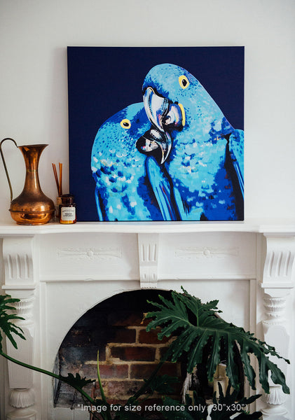 Anya Brock macaw canvas print