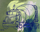 'Clemente the Cement Mixer' CANVAS PRINT