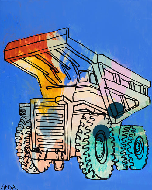 'Donovan The Dump Truck' CANVAS PRINT