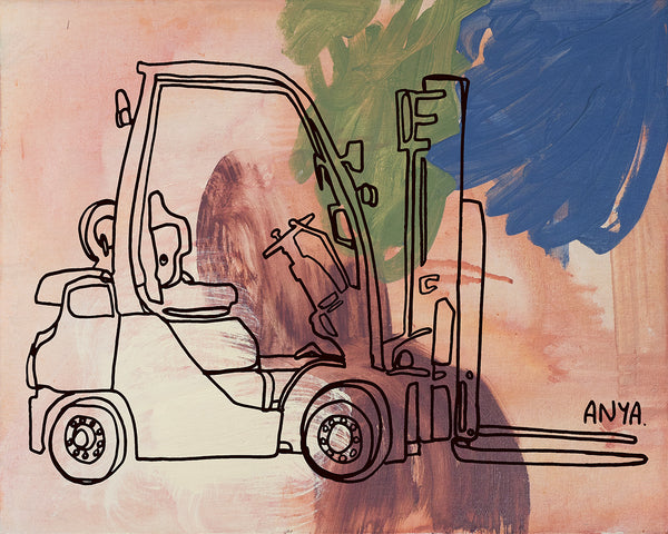 'Ferdinand The Forklift' Paper PRINT