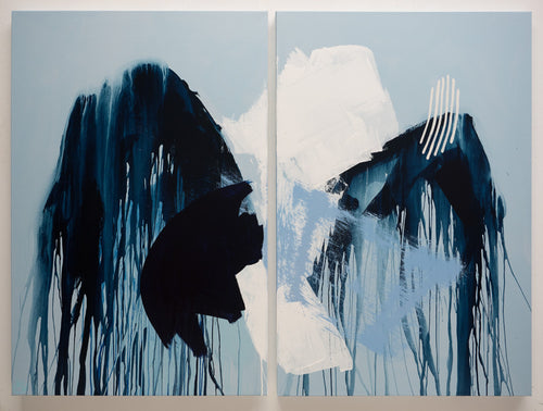 Absorbing Fear With Narrative (Diptych)