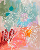 'Beatrix the Butterfly and Bugs' Paper PRINT
