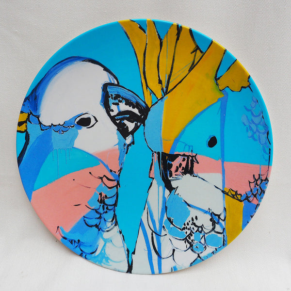 STOCK SALE - MELAMINE PLATE SINGLE - COCKATOO