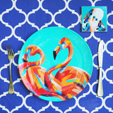 MELAMINE PLATE SINGLE- FLAMINGO