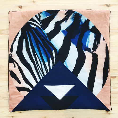 SALE Geo Zebra Cushion COVER ONLY