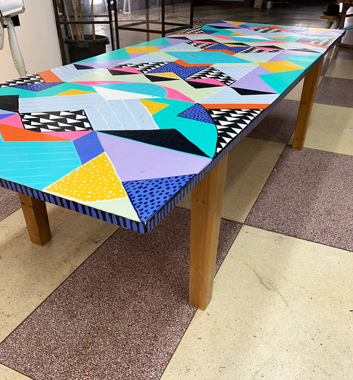 Hand Painted Table - Ex Gallery Display