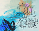 'Truman The Tractor' Paper PRINT