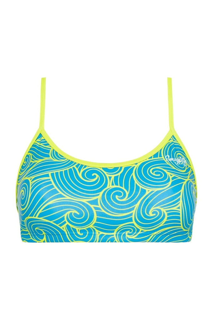 Blue Swirls Sports Crop