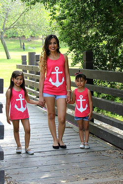 Mommy and Me Anchor Print Tank Top