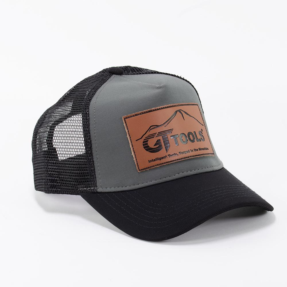 GT Tools Black Trucker Hat Front View
