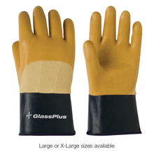 GlassPlus Heavy Latex Coating on Double Layer Kevlar Handling Gloves