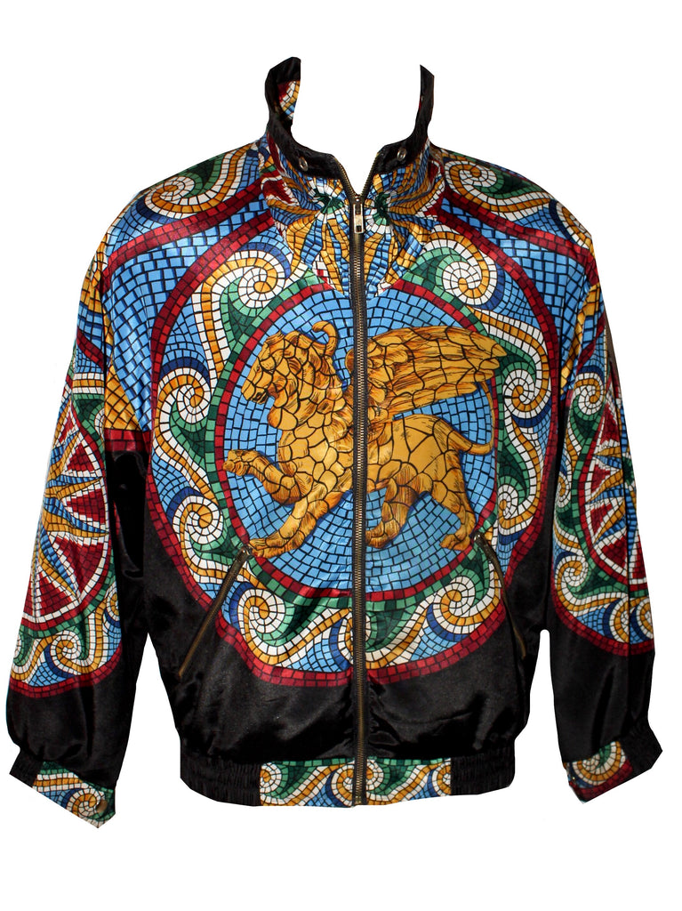 VINTAGE STAINED GLASS LEO WINDBREAKER