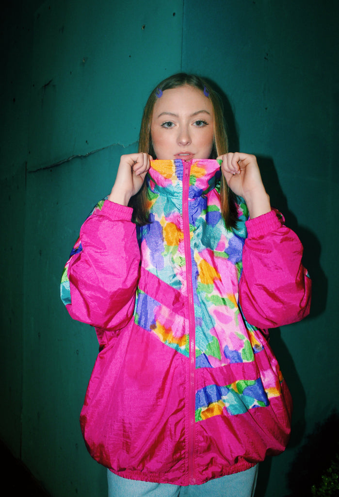 90s ABSTRACT WINDBREAKER