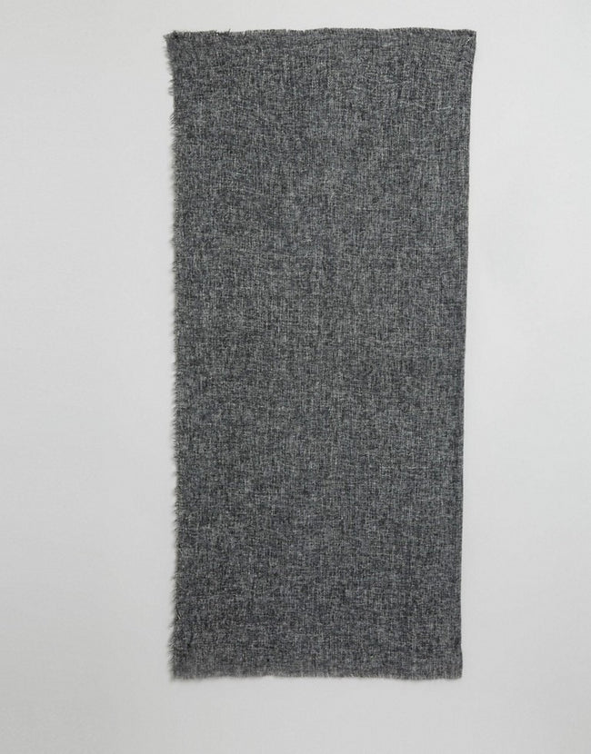 Oversized Square Woven Scarf In Two Tone