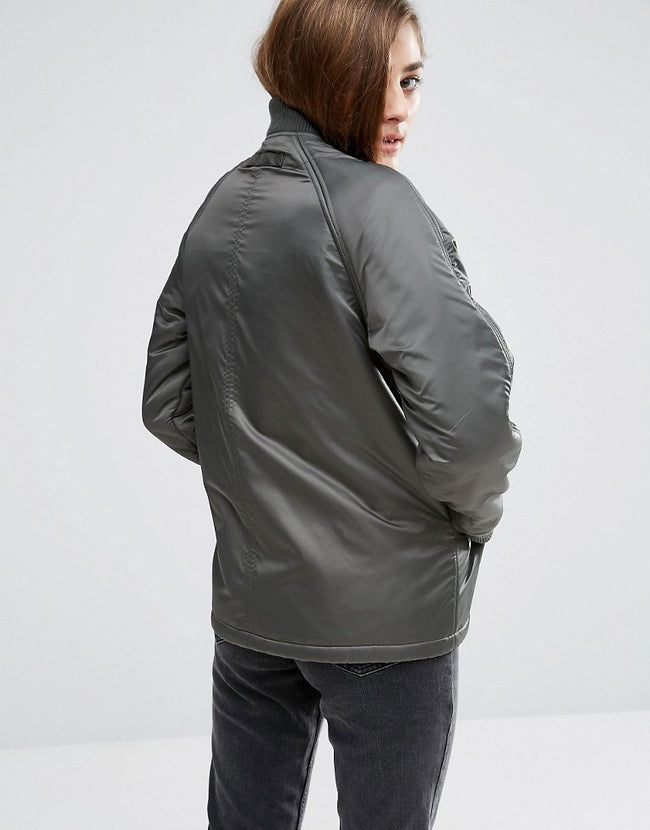 Reversible Bomber Jacket with Fleece Lining