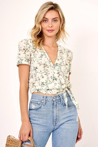 floral wrap top | olive + pepper