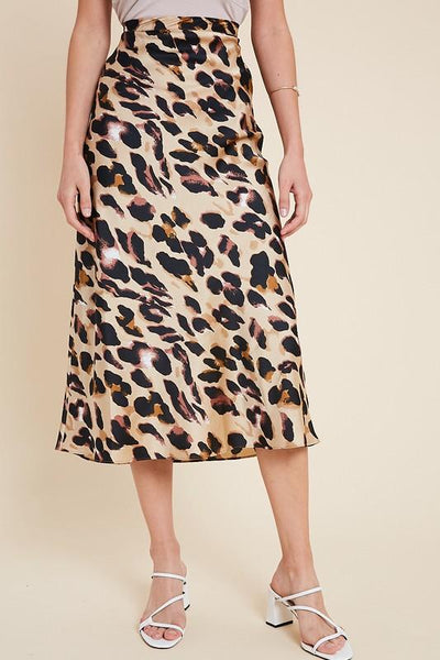 leopard midi skirt | OLIVE + PEPPER