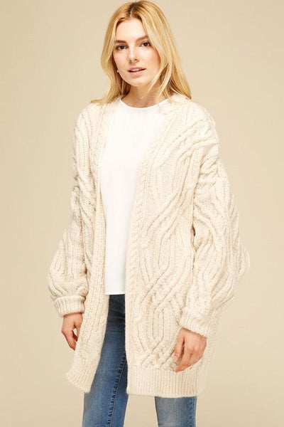 'june' cable knit cardigan