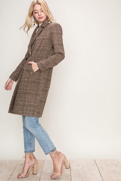 plaid boyfriend blazer coat | olive + pepper