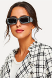 pearl studded rectangle sunnies | olive + pepper