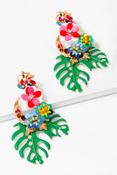 double daisy drop earring