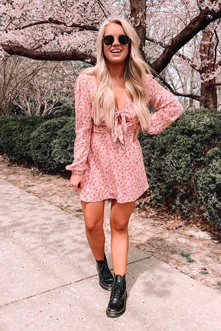 'carmen' flowy mini dress