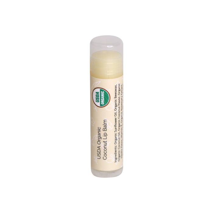 USDA Organic Lip Balms l Coconut, Spearmint, Strawberry, Peppermit, Eucalyptus Mint