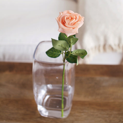 Real touch peach rose | Gypsy Petal artificial flowers shop