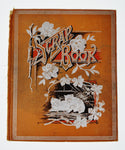 Antique Victorian Scrapbook Cover with Kitten Design, Great Decorative Piece